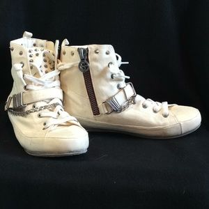 Sam Edelman Leather High Top Sneakers